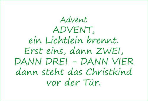 Advent Advent Ein Lichtlein Brennt Bekanntes Gedicht