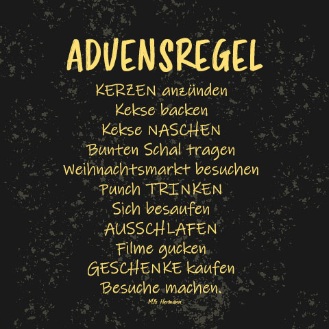 Gedicht lustig advent
